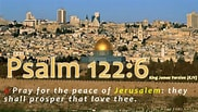 Image result for Pray for the Peace of Jerusalem