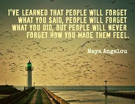 Resultado de imagem para i have learned that people forget what you said