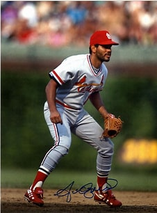 Image result for Photo Jose Oquendo Pitching. Size: 151 x 204. Source: stlsportscollectors.com