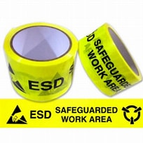 Image result for Transforming Technologies ESD Warning Tape. Size: 204 x 204. Source: versatilescientificproducts.com