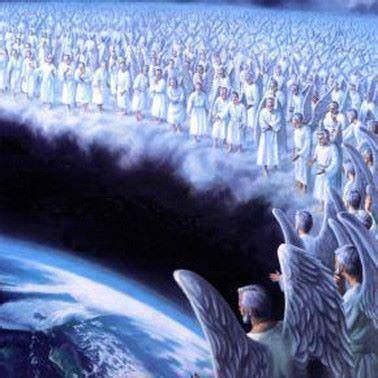 Image result for God's gigantic never ending army of angels in heaven