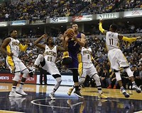 Image result for Lakers vs Pacers 2016