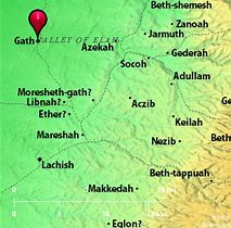 Image result for Gath in the Bible the place Goliath came from