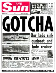 Image result for the sun headline kill all argies images