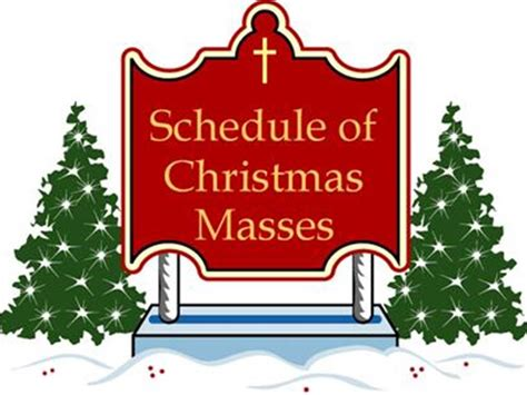Image result for christmas mass schedule image