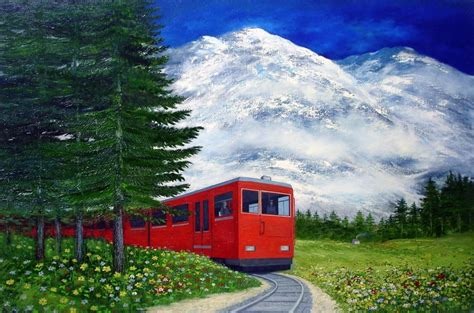 Image result for train and nature