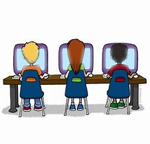 Image result for students on computers clipart