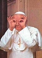Image result for The Pope Laughing