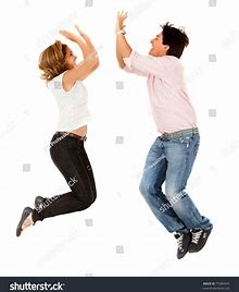 Image result for jumping high five