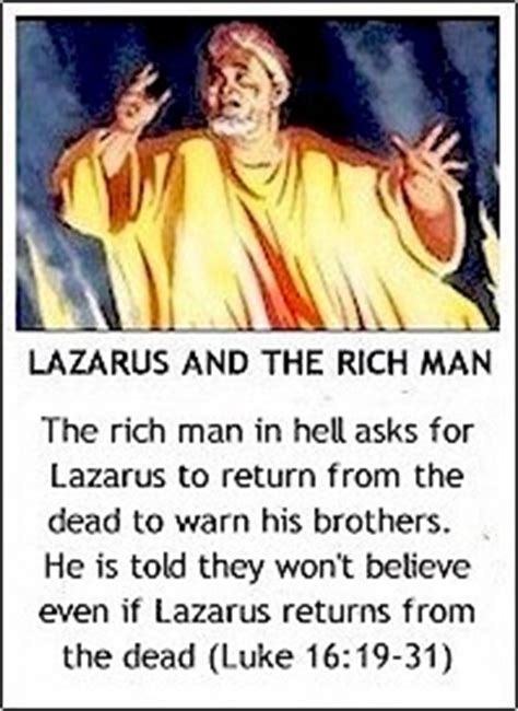 Image result for Lazarus in Hell