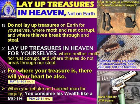 Image result for HEAVENLY TREASURES VS EARTHLY TREASURES