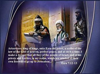 Image result for decree to restore and rebuild jerusalem