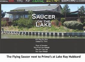Image result for flying saucer near hooters lake ray hubbard
