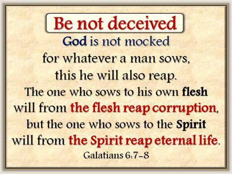 Image result for god is not mocked!