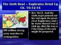 Image result for the Sixth angel poured out his bowl