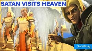 Image result for satan accompanies the angels to go see God