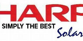 Image result for Sharp Solar. Size: 320 x 103. Source: enviro-friendly.com