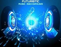 Image result for Futuristic Music. Size: 207 x 160. Source: freedesignfile.com
