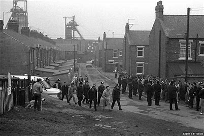Image result for photos of easington colliery miners strike.