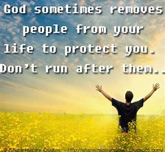 Image result for God removes immoral people from your life