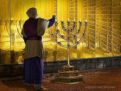 Image result for golden menorah in tabernacle