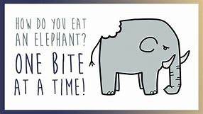 Image result for how do you eat an elephand