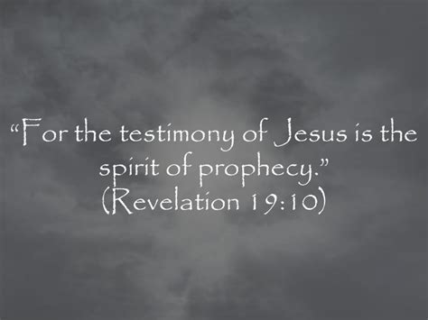 Image result for Jesus Christ is the spirit of prophecy