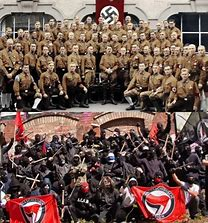 Image result for Facscist Brown shirts, Antifa