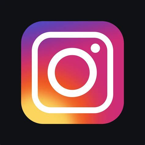 Image result for instagram icon black background