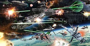 Image result for Star Wars Space battles. Size: 308 x 160. Source: wallpapercave.com