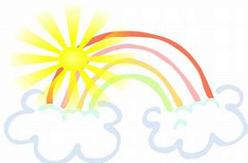 Image result for clipart of sunshine/rainbows