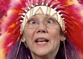 Image result for images of elizabeth warren as indian