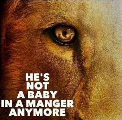 Image result for the lord is not a baby in a manger