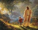 Image result for Free Picture of Walking with Jesus. Size: 124 x 100. Source: www.fanpop.com