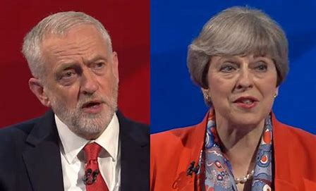 Image result for May and Corbyn