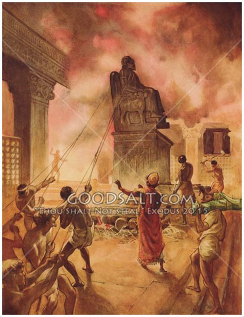 Image result for Daniel in the bible destroys the idols