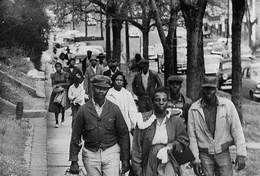 Image result for montgomery bus boycott people walking