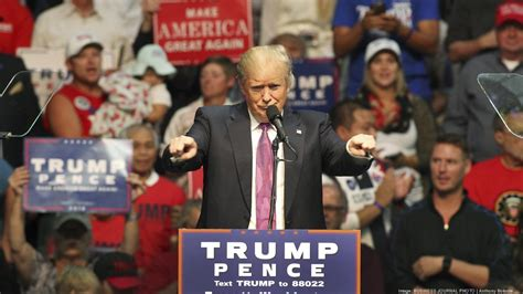 Image result for trump pointing at rally