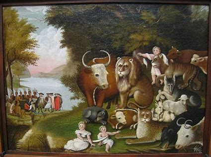 Image result for the peaceable kingdom painting