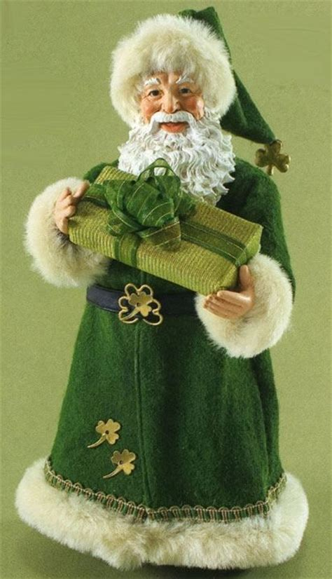 Image result for santa in green