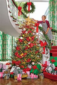 Image result for Christmas tree ribbon garland