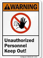 Image result for unauthorized personnel
