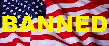 Image result for images of banning us flag