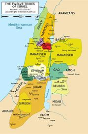 Image result for the biblical map of the tribes of israel