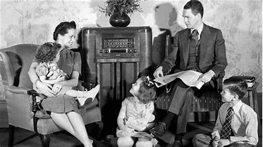 Image result for images 50s boys listening to radio sporetrs