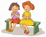 Image result for Royalty free Clip Art Two Children sitting Together