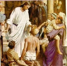 Image result for images Jesus caring for the Sick. Size: 207 x 204. Source: www.pinterest.com