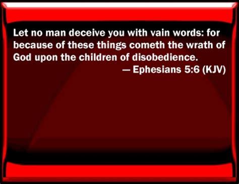 Image result for Ephesians 5:6 KJV