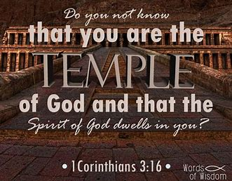 Image result for You are the Temple of God