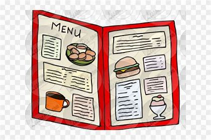 Image result for menu clipart